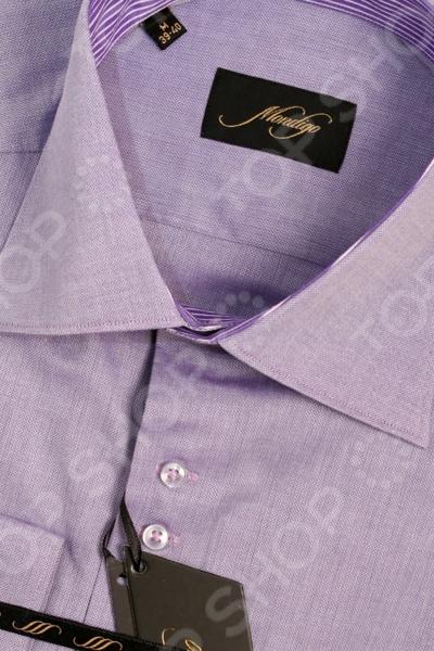 Рубашка Mondigo 501036. Цвет: фиолетовый была и остается классикой мужской моды. Она может считаться показателем отменного вкуса и элегантности её владельца. Эта стильная мужская рубашка будет превосходно смотреться как в рамках делового, так и неформального стиля. С её помощью вы без труда сможете создать уникальный образ, который будет выгодно выделять вас среди остальных мужчин. Данная модель относится к рубашкам зауженного кроя, поэтому она отлично подчеркнет ваш силуэт. Оригинальный для мужской рубашки цвет, светло-лиловый, позволит составить нескучный образ, который будет уместно смотреться и в офисе, и на торжественных мероприятиях. Особенности рубашки Mondigo 501036:  отложной воротник;  длинный рукав;  зауженные к краям манжеты;  лаконичная отдела контрастной тканью. Рубашка Mondigo 501036 выполнена из высококачественного натурального хлопка, поэтому её будет приятного держать в руках, носить, удобно стирать и легко гладить. Изделие отлично подходит для повседневной носки. Она долго вам прослужит, выдерживая при этом многочисленные стирки.