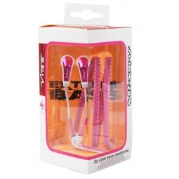 фото Наушники вставные VIBE Slick Zip Headphones. Цвет: розовый, белый
