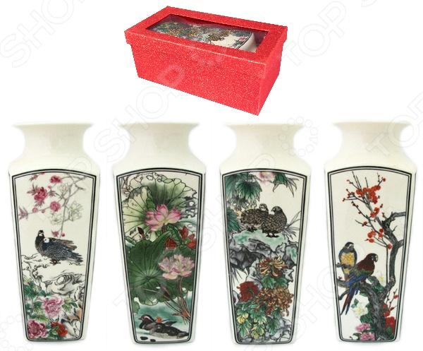 Ваза Elan Gallery «Птицы в цветах» 501915 вазы elan gallery ваза павлин в райском саду