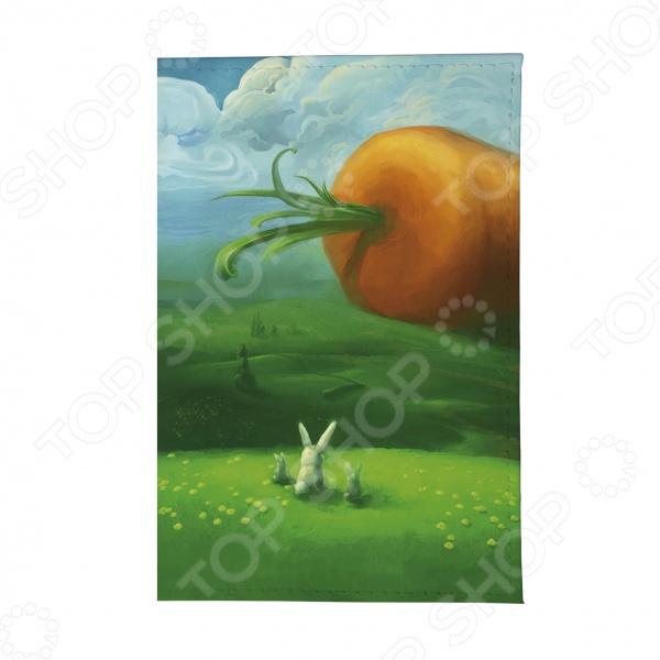 Обложка для автодокументов Mitya Veselkov «Заяц и морковка» визитница mitya veselkov заяц меломан