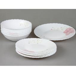 фото Набор столовой посуды Rosenberg 1251. Рисунок: роза