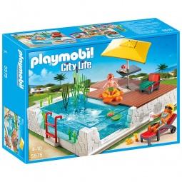 фото Конструктор игровой Playmobil «Особняки: Бассейн с террасой»