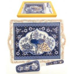 Купить Поднос с лопаткой Elan Gallery «Павлин синий»