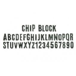 фото Форма для вырубки Sizzix Sizzlits Decorative Strip Die Алфавит 656917