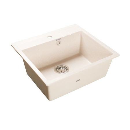 Купить Мойка кухонная GranFest Quadro GF-Q560. Цвет: белый
