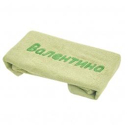 фото Полотенце подарочное с вышивкой TAC Валентина. Цвет: зеленый