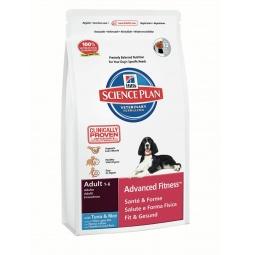 фото Корм сухой для собак Hill's Science Plan Advanced Fitness с тунцом и рисом. Вес упаковки: 12 кг