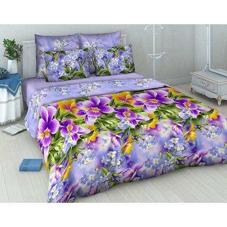 Купить Комплект постельного белья Василиса «Фиалки». 1,5-спальный
