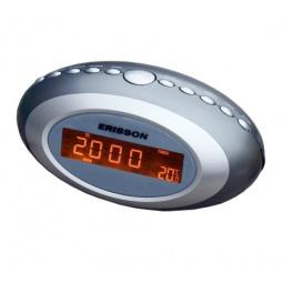 фото Радиочасы c термометром ERISSON RC-1202. Цвет: серый