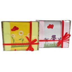 фото Набор: полотенце и 2 салфетки BONITA «Весенняя нежность». В ассортименте