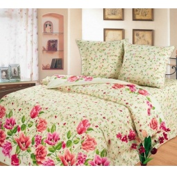 фото Комплект постельного белья Любимый дом «Тюльпановый сад». Евро
