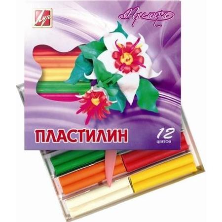 Купить Набор пластилина воскового мягкого Луч «Премиум»: 12 цветов