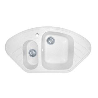 Купить Мойка кухонная GranFest Corner GF-C960E. Цвет: белый