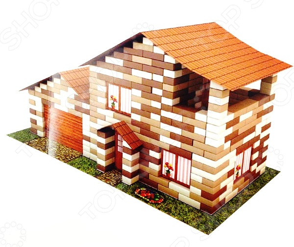Конструктор из кирпичиков Karras «Дом  гаражом»