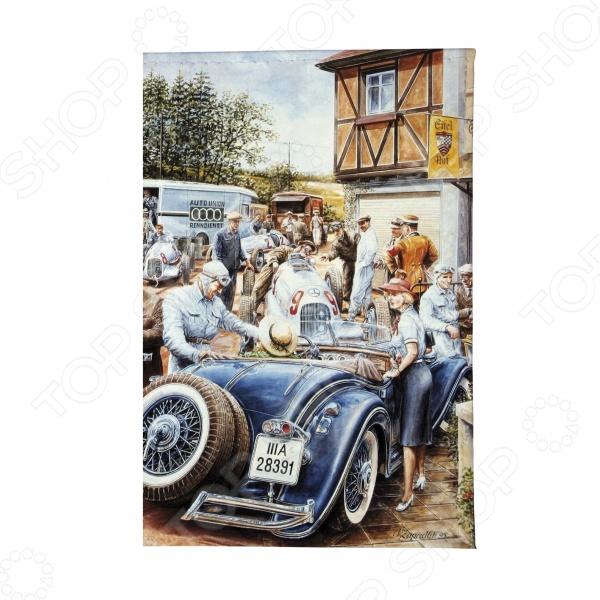 Обложка для автодокументов Mitya Veselkov «Ретро-гонка» обложки mitya veselkov обложка для паспорта ретро гонка