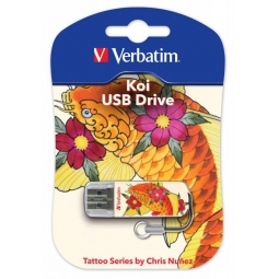 Купить Флешка Verbatim Store 'n' Go Mini Tattoo Koi 16Gb