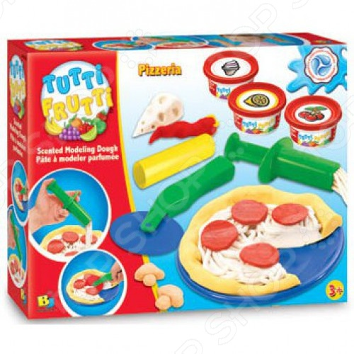 Набор массы для лепки Bojeux Пиццерия прекрасно подойдет для детского творчества и даст малышу возможность ощутить себя профессиональным пицца-мейкером. Такие творческие занятия способствуют развитию у малышей воображения, пространственного мышления, мелкой моторики рук и восприятия форм и цветов. В качестве рабочего материала для создания поделок используется пластичное тесто, предназначенное для моделирования и лепки различных изделий. Оно абсолютно безвредно для здоровья детей, состоит исключительно из натуральных компонентов муки, соли и воды с добавлением пищевых красителей и ароматизаторов. В игровой набор входит все необходимое: три баночки с тестом, нож для пиццы, выдавливающий пресс, скалка, тарелочка и т.д.
