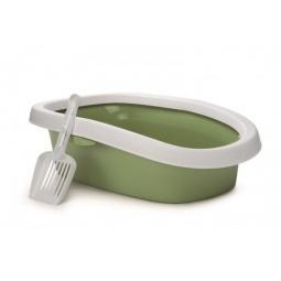 фото Туалет для кошек Beeztees Oval. Цвет: зеленый. Размер: 31х43 см