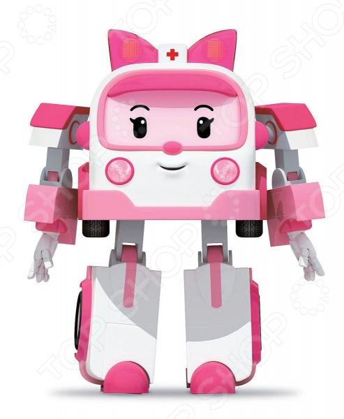 Игрушка-трансформер Poli «Эмбер»Роботы и трансформеры<br>Игрушка-трансформер Poli Эмбер предназначен для таких маленьких, но уже таких активных малышей. Представленная модель непременно придется по вкусу всем любителям комиксов, мультфильмов или фильмов о роботах, способных менять свой внешний вид. Фигурка выполнена в оригинальном стиле, у нее множество подвижных частей. Простым движением можно превратить робота в машинку скорой помощи. Игрушка способствует развитию зрительной координации, воображения и мелкой моторики рук малыша. Кроме того, тренируется наблюдательность, образное восприятие и логическое мышление.<br>