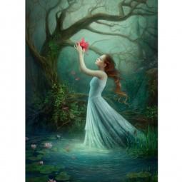 фото Пазл 1000 элементов Heye «Девушка с красным цветком»