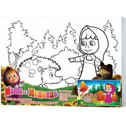 фото Набор для росписи по холсту Росмэн «Маша и лесные жители»