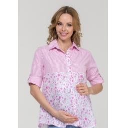 Купить Рубашка для беременных Nuova Vita 1360.02N.V. Цвет: розовый