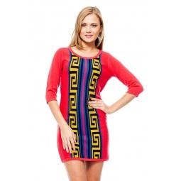 фото Платье Mondigo 9872. Цвет: коралловый. Размер одежды: 44
