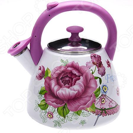 Чайник со свистком Mayer&amp;amp;Boch MB-23939 «Розы»Чайники со свистком и без свистка<br>Чайник со свистком Mayer Boch MB-23939 Розы это чайник привлекательного дизайна, который будет не просто полезным аксессуаром на кухне, но и ее украшением. Достаточно большой объем чайника позволяет вскипятить в нем достаточно воды для чаепития всей семьей. Свисток своевременно сообщит вам о закипании воды, так что вы можете не волноваться, что она случайно выкипит.<br>