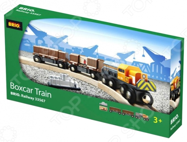 Товарный поезд с раздвижными вагонами Brio 33567