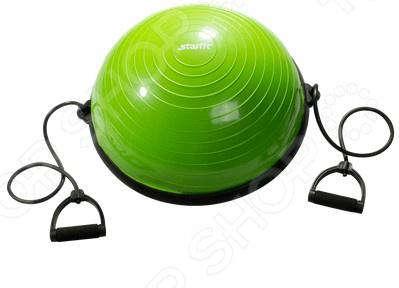 Полусфера гимнастическая Star Fit GB-501Специальные тренажеры<br>Полусфера гимнастическая Star Fit GB-501 это удобный эспандер сделанный из ПВХ, имеет вид полусферы, подходит для одновременно развития мышц на обеих сторонах. Мышцы должны всегда находится в тонусе даже если вы не профессиональный спортсмен. Эту полусферу можно использовать для того, чтобы похудеть, при необходимости можно изменить степень накачанности. Обычная тренировка должна включать:  Легкую разминку. Разогрейте мышцы.  Работу с полусферой. Сжимайте его каждой рукой начиная от 20 раз. В дальнейшем увеличивайте кол-во повторений и длительность удерживания сжатого эспандера.  Дайте отдохнуть руке в течении минуты и повторите подход.  Если вы почувствуете острую боль при выполнении упражнения, то следует немедленно прекратить тренировку.<br>