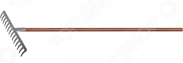 Грабли PALISAD LUXE 61789Грабли<br>Грабли PALISAD LUXE 61789 инструмент, используемый для уборки садового мусора, рыхления и выравнивания почвы на небольших грядках и клумбах. Рабочая часть изделия выполнена из высококачественной инструментальной стали марки Y8 с противокоррозийным эмалевым напылением. Эргономичная рукоятка изготовлена из натурального красного дерева и покрыта защитным слоем лака. Тулейка приварена к основанию. После каждого применения рекомендуется тщательно очищать рабочую часть изделия от грунта. Длина черенка 1150 мм, ширина рабочей части 360 мм.<br>