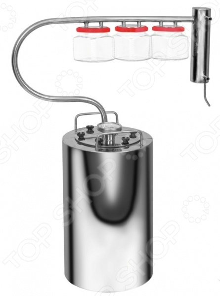 Самогонный аппарат Добрый Жар «Луч»Домашние мини-пивоварни. Самогонные аппараты<br>Самогонный аппарат Добрый Жар Луч устройство, используемое для получения самогона в домашних условиях. Принцип работы прибора основан на методе дистилляции, а именно на испарении спирта с его последующей конденсацией. Модель выделяется следующими особенностями:  Изготовлен из пищевой нержавеющей стали марки AISI 304 430. Материал абсолютно гигиеничен, при этом не вступает в реакцию с жидкостями внутри куба. Все это обеспечивает долгий и качественный срок службы устройства.  Три сухопарника обеспечивают высокую степень очистки самогона от сивушных масел и прочих примесей. Разборная конструкция позволяет поместить в них различные ингредиенты для ароматизации получаемого продукта.  Проточный холодильник с классическим змеевиком обеспечивает 100 конденсацию паров так, что на выходе получается уже холодный ароматизированный напиток.  Работает на любых типах плит, включая индукционные. Аппарат прост в использовании и безопасен при соблюдении всех инструкций и рекомендаций от производителя. Перед началом применения обязательно ознакомьтесь с инструкцией.<br>