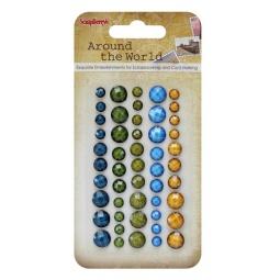 Купить Клеевые граненые камушки ScrapBerry's Вокруг света 1