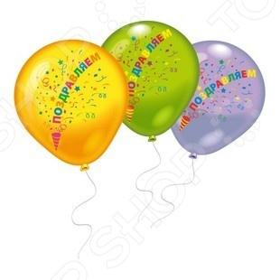 Набор воздушных шаров Everts 1009687 «Поздравляем». В ассортименте