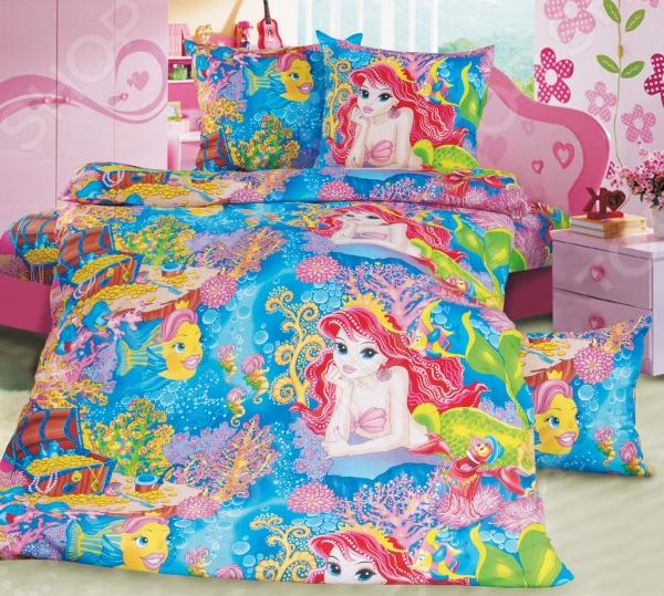 Ясельный комплект постельного белья Бамбино «Морская сказка»