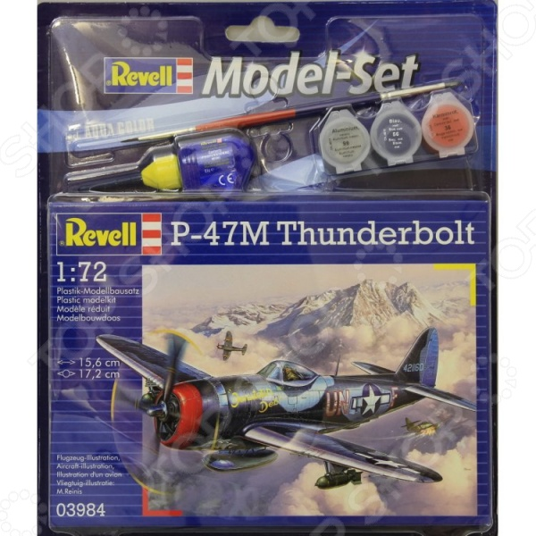 Набор сборной модели самолета Revell «Рипаблик P-47. Тандерболт» самолеты и вертолеты revell набор со сборной моделью истребитель dassault rafale m