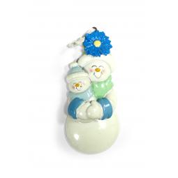 фото Елочное украшение Crystal Deco «Пара Снеговиков». Цвет: голубой