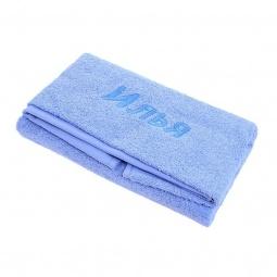 фото Полотенце подарочное с вышивкой TAC Илья. Цвет: голубой