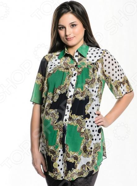 Блузка для беременных 1601.3.Цвет: зеленый