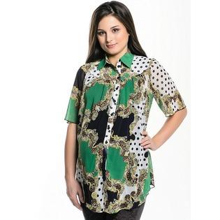 Купить Блузка для беременных Nuova Vita 1601.3. Цвет: зеленый