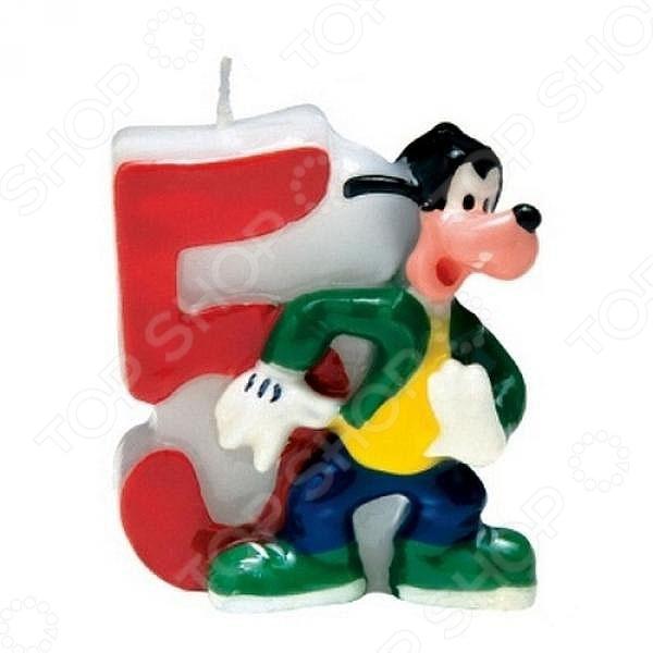 Свечка объемная Procos «Микки» 5 летСвечи. Подсвечники<br>Свечка объемная Procos Микки 5 лет это объемная свеча, которая создаст потрясающую атмосферу праздника. На каждом празднике все гости ждут торта, а для детей это основное событие дня. Что бы сделать торт запоминающимся необходимо украсить его подобными свечами. Объемный дизайн и фигурка любимого персонажа из мультфильма покажут сколько лет исполнилось имениннику.<br>