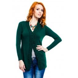 фото Кардиган Mondigo 9490. Цвет: темно-зеленый. Размер одежды: 42