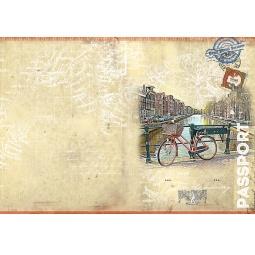 фото Обложка для паспорта Феникс-Презент «Велосипед»