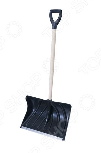 Лопата для уборки снега Archimedes 90081. В ассортиментеЛопаты для снега. Скреперы. Ледорубы<br>Товар продается в ассортименте. Вид изделия при комплектации заказа зависит от наличия товарного ассортимента на складе. Лопата для уборки снега Archimedes 90081 станет отличным помощником для вашего дома. С ее помощью вы сможете без труда расчистить снег на вашем участке. Широкое и, в то же время, прочное полотно, а так же гладкая поверхность не дадут снегу налипнуть на лопату, при том, что высокие боковые стенки позволят не спадать снегу во время переноски. Даже если снег был посыпан канцерогенами составами и содержит соли, это не нанесет вашему инструменту никакого вреда, так как пластик не чувствителен к их воздействию. В не зависимости от того, какая поверхность вами чистится, плитка, асфальт или бетон, кромка из нержавеющей стали позволит выполнять работу быстро и качественно. Эффективности в ее использование добавляют ребра жесткости, а так же D-образная рукоять.<br>