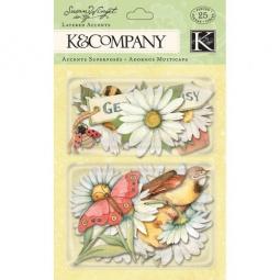 Купить Стикер-украшение K&Company «Весенние ромашки»
