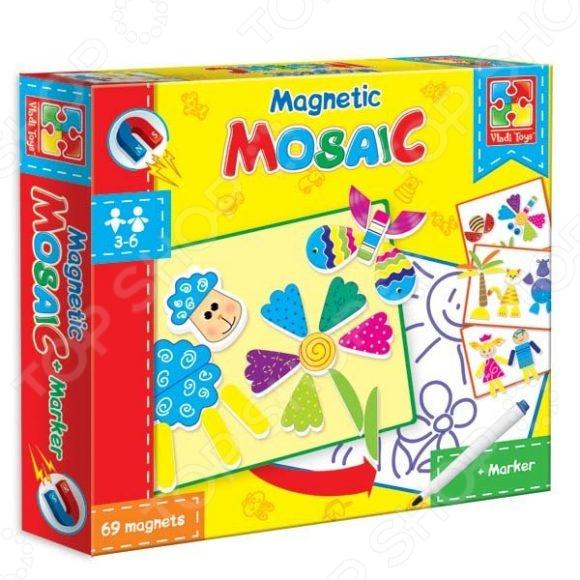 Мозаика магнитная Vladi Toys «Овечка» VT3701-01Мозаика<br>Мозаика магнитная Vladi Toys Овечка VT3701-01 это красочный пазл, который позволит вашему ребенку создать прекрасную картину, а также развлечет всю семью. Соберите этот шедевр и вы сможете украсить им стену, закрепить на столе, либо на любой другой поверхности. Пазлы изготавливаются из качественного и безопасного материала, вы сможете собирать его вместе с детьми. Игра отлично развивает мелкую моторику пальцев, логику и пространственное мышление. Мягкие картинки созданы из вспененного полимера, который очень приятен на ощупь.<br>