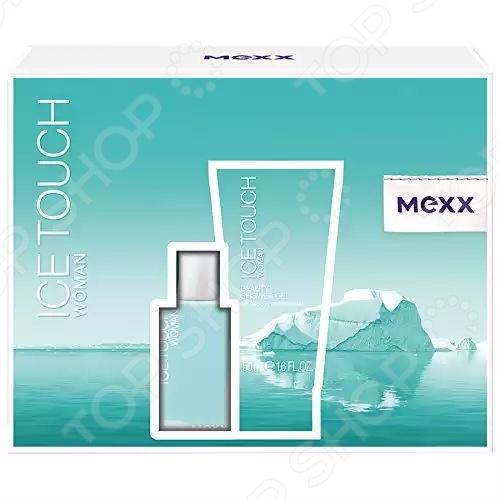 Набор: туалетная вода женская и гель для душа MEXX Ice Touch Woman, 150 мл, 30 мл цена и фото