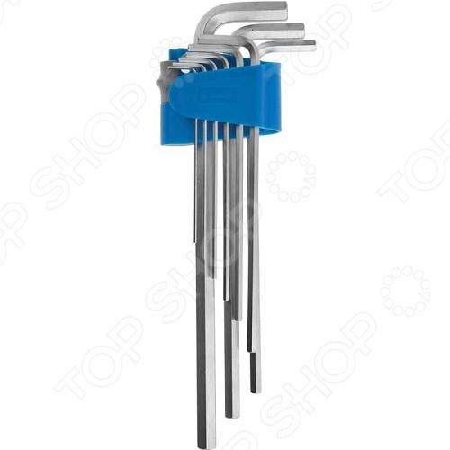 Набор ключей имбусовых длинных Зубр «Эксперт» 27465-H9 набор длинных имбусовых ключей с шаром inforce 9 шт 55633