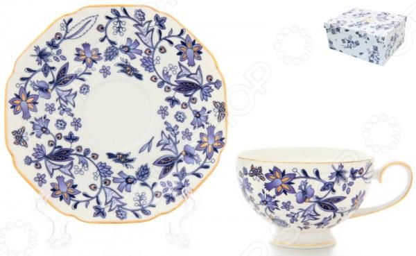Чашка чайная с блюдцем Elan Gallery «Изысканность» Elan Gallery - артикул: 534238