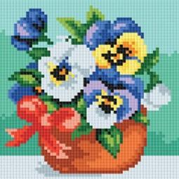 фото Набор для создания мозаики Белоснежка «Веселые цветочки»